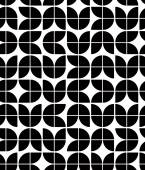 Black and white abstract geometric seamless pattern, contrast re — Stock Vector