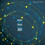 Clear eps 8 engineering vector illustration, 3d mesh symbol, wir — Stock Vector #58730117