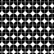 Black and white abstract geometric seamless pattern, vector cont — Vector de stock  #58732613