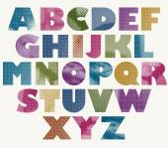 Halftone dots bold font. — Stockvector