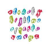 Script font vector, vector alphabet letters. — Stock Vector