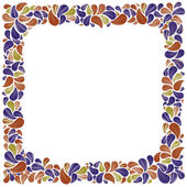 Colorful natural decorative framing with leaves, best for greeti — Stockvektor