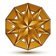 Sophisticated vector golden star emblem, 3d decorative design el — Stock Vector #58964069