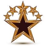 ������, ������: Branded golden geometric symbol stylized golden star with black