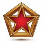 Geometric vector classic golden element isolated on white backdr — Stock Vector #58964161