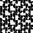 Black and white abstract seamless pattern, vector contrast regul — Vector de stock  #58964583