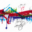 Colorful watercolor graffiti splash overlay elements, expressive — Stock Vector #58965681