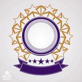 Vector design element, celebrative pentagonal stars web emblem w — Stock Vector