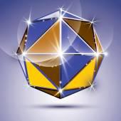 Vector stylish illustration, shiny design kaleidoscope effect, e — Stock Vector