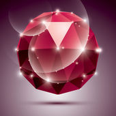 Vector stylish illustration, shiny Rubin effect, eps10. Gala 3D — Stock Vector