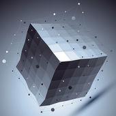 Geometric vector abstract 3D complicated lattice backdrop, contr — Stock Vector
