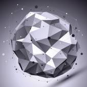Spatial vector monochrome digital eps8 backdrop, dimensional con — Stockvektor