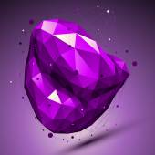 Purple geometric vector abstract 3D complicated lattice backdrop — Stock Vector