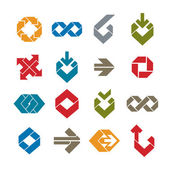 Abstract unusual vector symbols set, creative stylish icon templ — Stock Vector