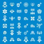 Peace earth and society unusual vector icons set, creative symbo — Stock Vector