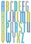 Bright expressive font, tracery drop caps. — Stockvektor
