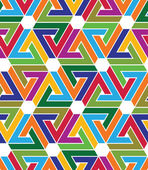 Multicolored abstract textured geometric seamless pattern with h — Stok Vektör