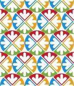 Decorative multicolored geometric seamless pattern with symmetri — Vector de stock