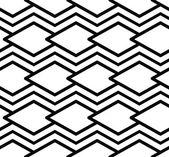 Monocromo de patrones sin fisuras simétrico de líneas paralelas, negras — Vector de stock