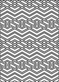 Monochrome geometric art seamless pattern, vector mosaic black a — Stock Vector