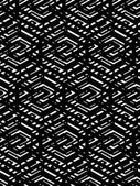 Geometric messy lined seamless pattern, black vector endless bac — Stok Vektör