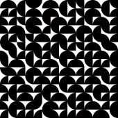 Black and white abstract seamless pattern, contrast geometric re — Stockvector