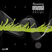 Splattered web design element, art ink blob, bright paintbrush d — Stock Vector