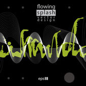 Modern vector inky wallpaper, eps8 flowing lines, ephemeral blob — Stock Vector