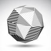 Symmetric spherical 3D vector technology illustration, perspecti — Vecteur