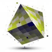 Contemporary techno light green squared stylish construction, co — Stock Vector