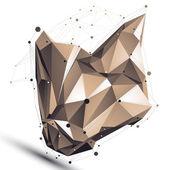 Contemporary technical asymmetric stylish construction, abstract — Stock Vector