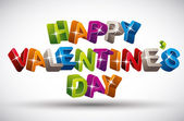 Felice giorno di san valentino. — Vettoriale Stock