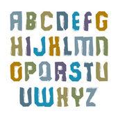 Vector stylish brush uppercase letters, handwritten font, sans s — Stock Vector
