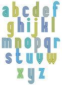 Triple stripe retro style font. — Stock Vector