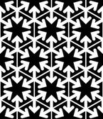 Black and white abstract textured geometric seamless pattern. Ve — Stok Vektör