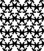 Black and white abstract textured geometric seamless pattern. Ve — Vecteur