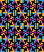 Bright extraordinary geometric seamless pattern with triangles a — Vecteur