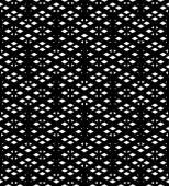 Black and white geometric art seamless pattern, vector mosaic mo — Vecteur