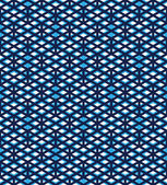 Blue abstract seamless pattern with interweave lines. Vector ove — Stock Vector