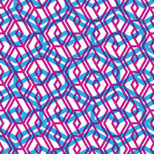 Geometric messy lined seamless pattern, colorful maze vector end — Vecteur
