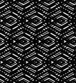 Black and white geometric art seamless pattern, vector mosaic mo — Cтоковый вектор