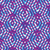 Geometric messy lined seamless pattern, colorful maze vector end — Stok Vektör