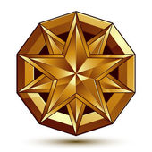 Vector glorious glossy design element, luxury 3d golden star, co — Stock vektor