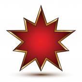 Vector glorious glossy design element, luxury 3d golden signet, — Stock Vector