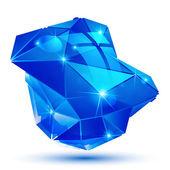 Plastic pixilated dimensional complicated object, synthetic dott — Vetor de Stock