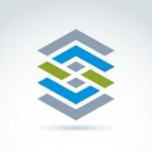 Geometriska abstrakt ikon, abstrakt symbol, vektor grafisk design — Stockvektor