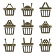 Shopping baskets icons — Stock Vector #65427139