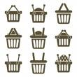Shopping baskets icons — Stock Vector #65427139