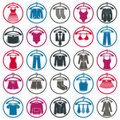 Clothes icons collection — Stock Vector