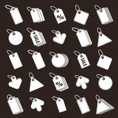 Tags icons set — Stock Vector